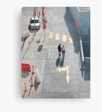 pedestrian crossing Metal Print