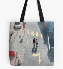 pedestrian crossing Tote Bag