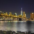 Manhattan at night by SteveHphotos