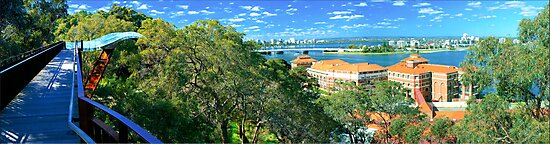The Swan river from Kings Park  by Kevin Lambert