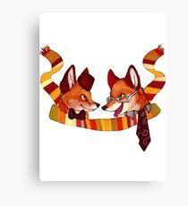 Fandom Foxes - Who? Canvas Print