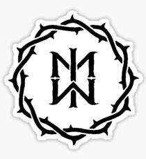Motionless In White Crown Of Thorns Logo Sticker