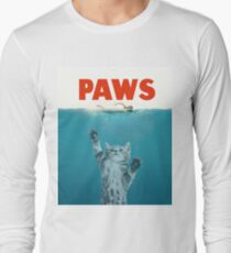 Paws - Cat Kitten Meow Parody T Shirt Long Sleeve T-Shirt
