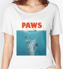 Paws - Cat Kitten Meow Parody T Shirt Women's Relaxed Fit T-Shirt