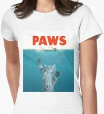 Paws - Cat Kitten Meow Parody T Shirt Fitted T-Shirt