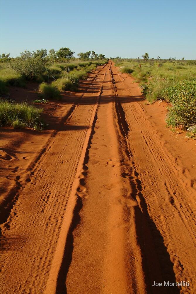 Desert Track to Lake Gregory WA by Joe Mortelliti