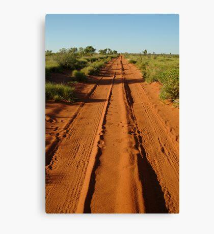 Desert Track to Lake Gregory WA Canvas Print