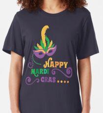 Happy Mardi Gras T-shirt and Apparel Slim Fit T-Shirt