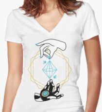 Symmetra Tarot Women's Fitted V-Neck T-Shirt