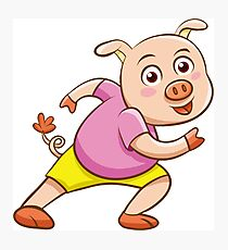 Funny pig Photographic Print