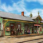 Train Station - Garrison train station 1880 by Mike  Savad