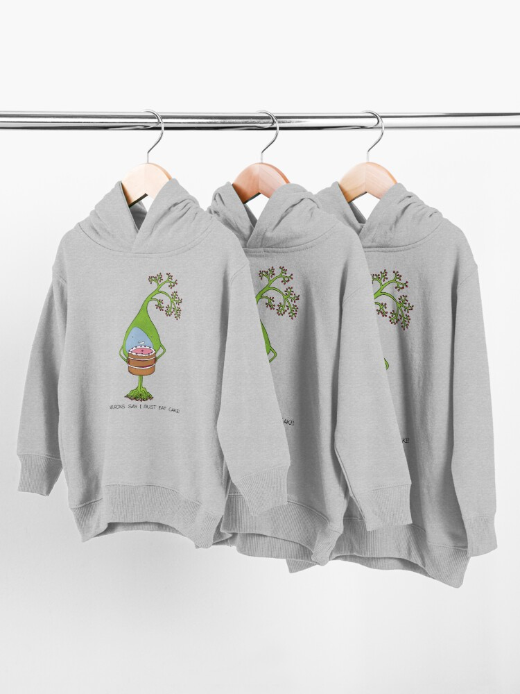 Alternate view of Neurons love cake Toddler Pullover Hoodie