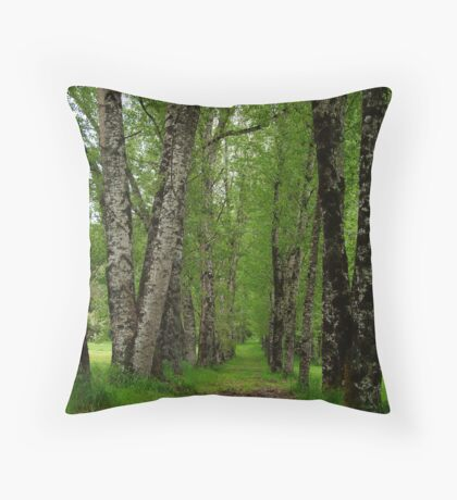 Silver Birch Trees, Otway Ranges Throw Pillow