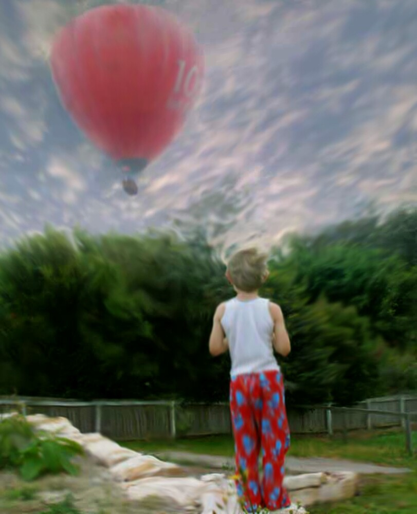 Balloon and Boy by Cliff Vestergaard
