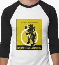 BICYCLES; Ronde Van Vlaanderen Advertising Print Men's Baseball ¾ T-Shirt