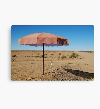 Shady Spot Oodnadatta Track Outback Australia Canvas Print