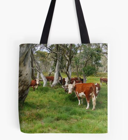 Mountain Cattle, Victorian High Country Tote Bag