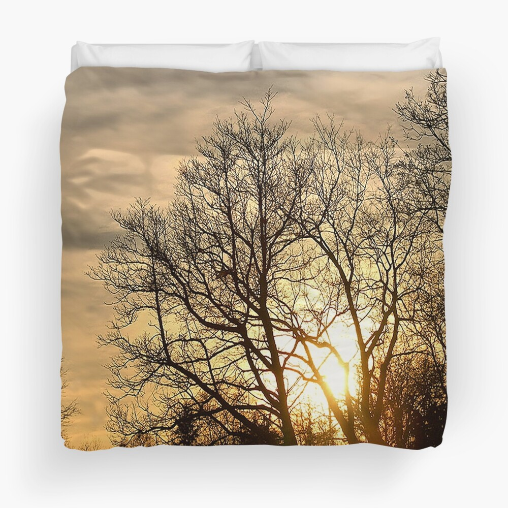 Tree in Golden Hour Duvet Cover