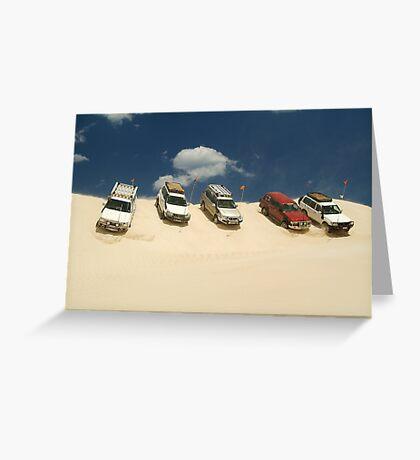 Dune Drivers,Robe Beach District South Australia Greeting Card