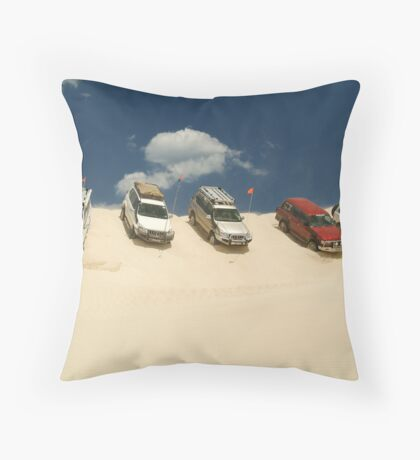 Dune Drivers,Robe Beach District South Australia Throw Pillow