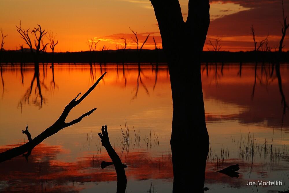 Red Reflections, Lake Fyans Grampians by Joe Mortelliti