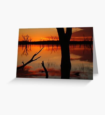 Red Reflections, Lake Fyans Grampians Greeting Card