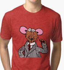 Rizzo the Rat Muppets Fanart Portrait JTownsend Tri-blend T-Shirt
