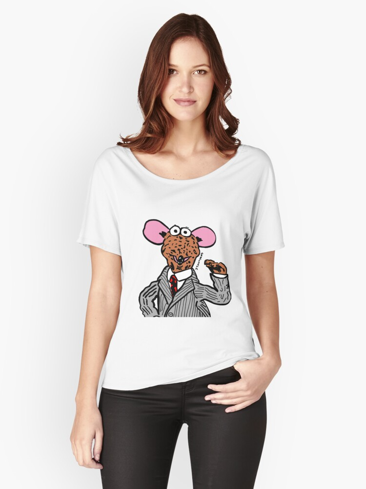 Rizzo the Rat Muppets Fanart Portrait JTownsend Women's Relaxed Fit T-Shirt Front