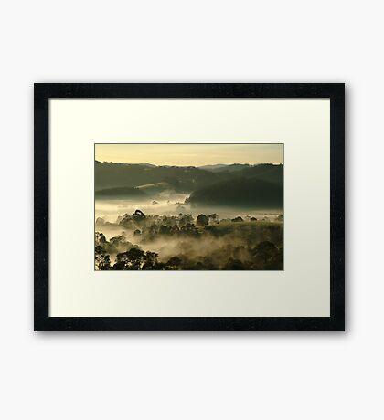 Valley Fog,Dollar, Gippsland Framed Print