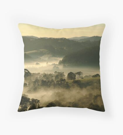 Valley Fog,Dollar, Gippsland Throw Pillow