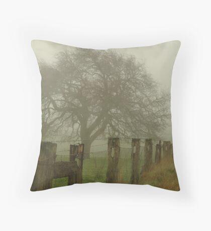 Foggy Morning, Macedon Ranges Throw Pillow