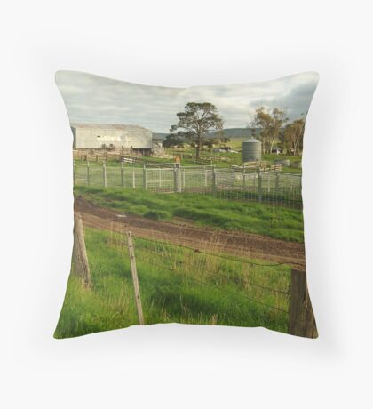 Dairy Farm,Rowsley Throw Pillow