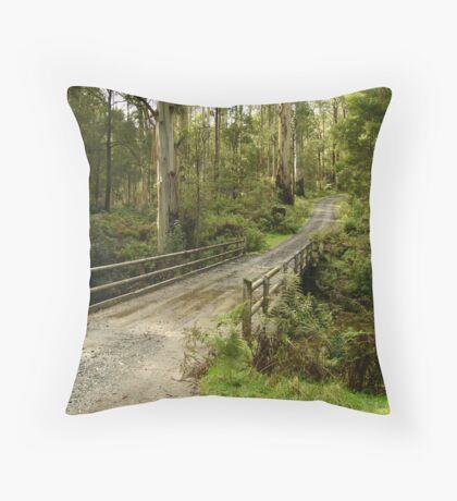 Bridge Track, Otway Ranges Throw Pillow