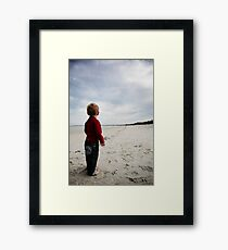 It's a long walk Framed Print