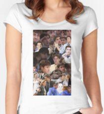 Jim Halpert Collage (+ Pam) Women's Fitted Scoop T-Shirt