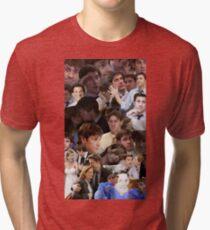 Jim Halpert Collage (+ Pam) Tri-blend T-Shirt