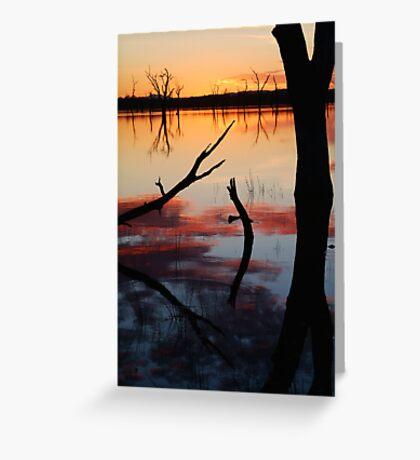 Lake Fyans Sunrise Greeting Card