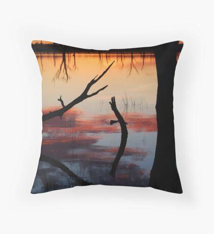 Lake Fyans Sunrise Throw Pillow