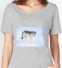 Oldest Wolf in the Pack_Timber Wolf Women's Relaxed Fit T-Shirt