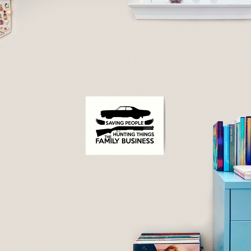 Supernatural Family Business Logo Art Print