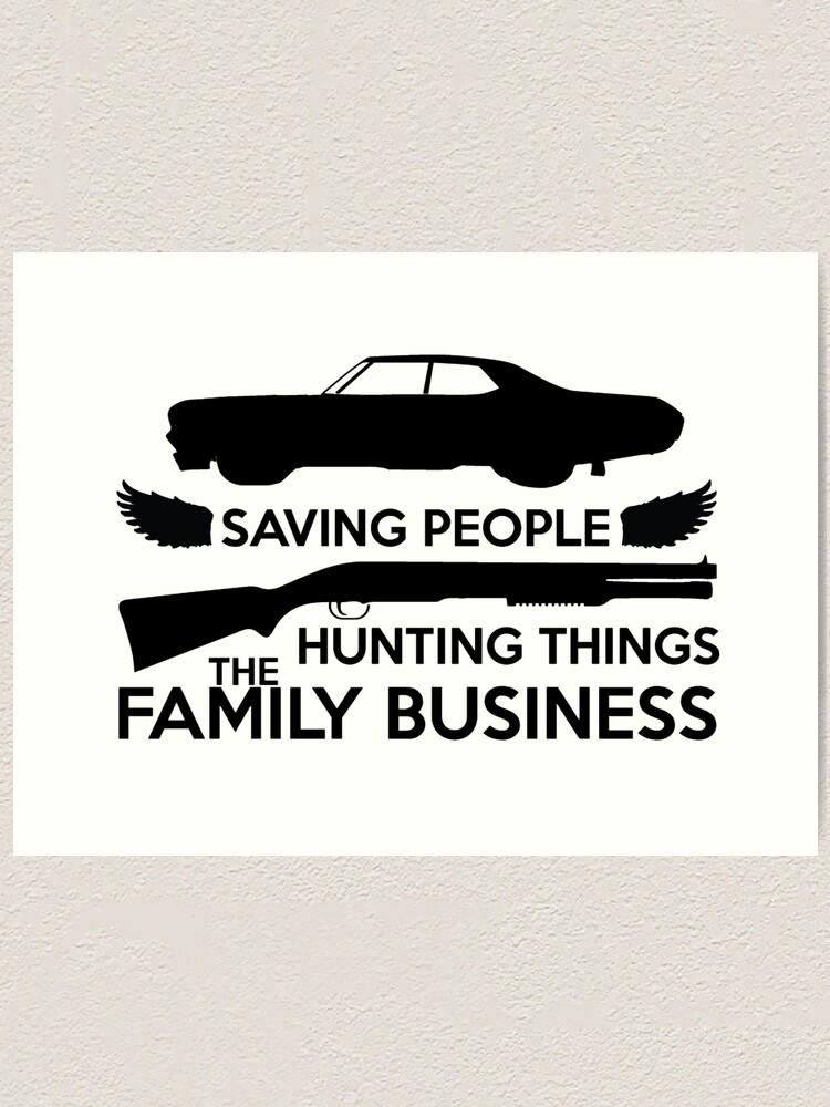 Alternate view of Supernatural Family Business Logo Art Print