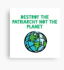 Destroy Patriarchy Canvas Print