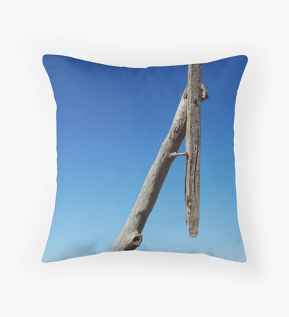 Old Telegraph Pole, Mallee rustic timber Throw Pillow