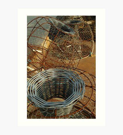 Cray Pots,Apollo Bay Art Print
