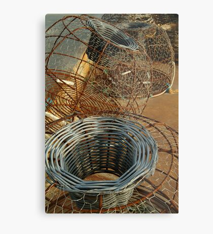 Cray Pots,Apollo Bay Metal Print