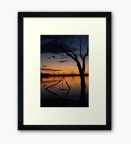 Sunrise, Lake Fyans Grampians Framed Print