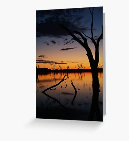 Sunrise, Lake Fyans Grampians Greeting Card