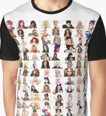 Checklist - Rupaul's Drag Race Queens  Graphic T-Shirt