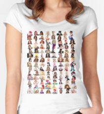 Checklist - Rupaul's Drag Race Queens  Women's Fitted Scoop T-Shirt