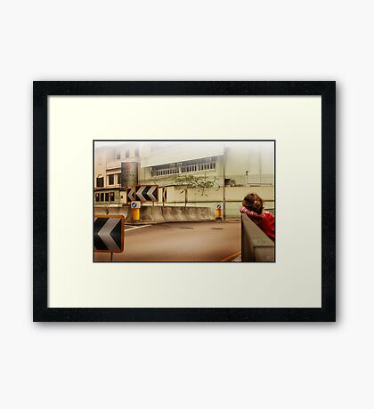 Bored Intersection Framed Print